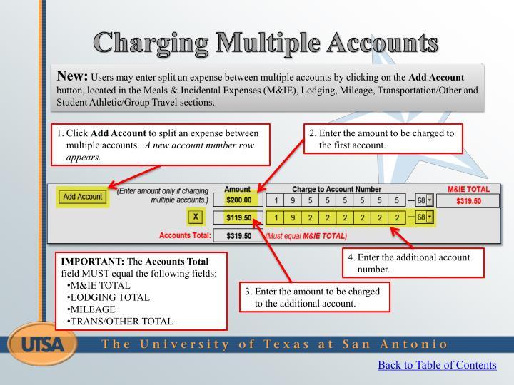 Charging Multiple Accounts