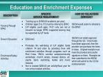 education and enrichment expenses1