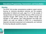 educational programming assessment and consultation1