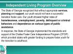 independent living program overview