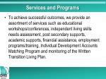 services and programs
