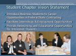 student chapter vision statement