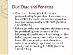 due date and penalties