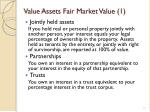 value assets fair market value 1