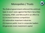 monopolies trusts17