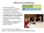 apha annual meeting