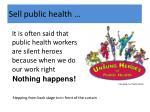 sell public health