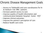 chronic disease management goals