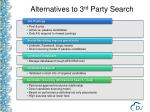alternatives to 3 rd party search