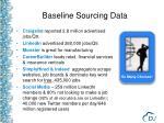baseline sourcing data