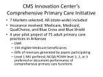 cms innovation center s comprehensive primary care initiative