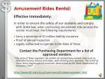 amusement rides rental
