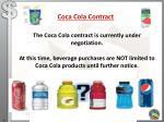 coca cola contract