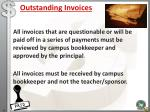 outstanding invoices