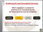 professional and consultant services