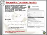 request for consultant services