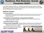 resilience risk reduction suicide prevention r3sp