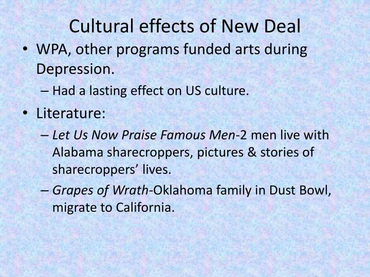 Cultural effects of New Deal
