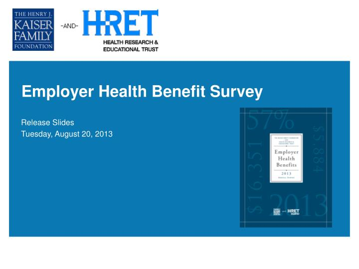 employer health benefit survey n.