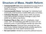 structure of mass health reform