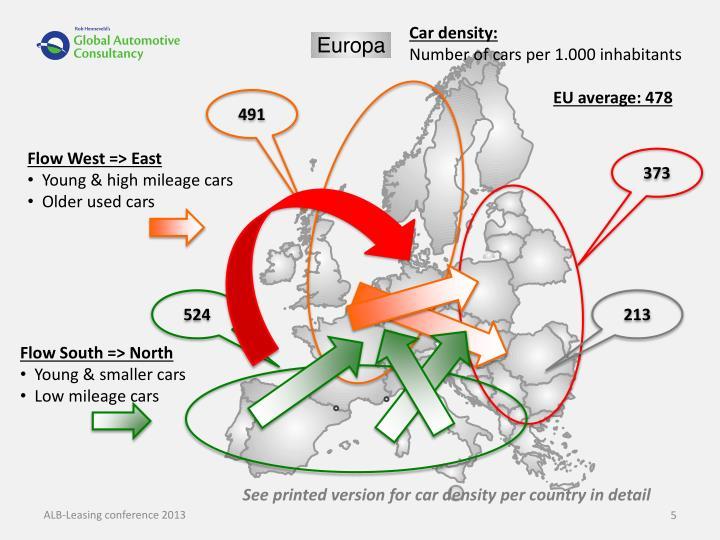 Car density: