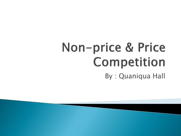 non price price competition n.