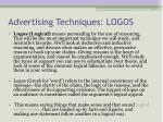 advertising techniques logos