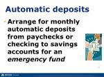 automatic deposits