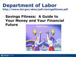 department of labor http www dol gov ebsa pdf savingsfitness pdf