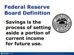 federal reserve board definition