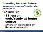 investing for your future www extension org pages 10984 investing for your future