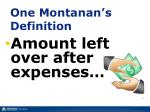one montanan s definition