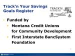 track n your savings goals register