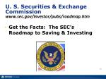 u s securities exchange commission www sec gov investor pubs roadmap htm