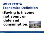 wikipedia economics definition