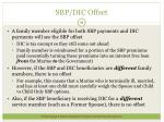 sbp dic offset