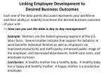 linking employee development to desired business outcomes