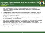 investment opportunities in nigeria s downstream oil gas value chain conclusion