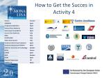 how to get the succes in activity 4