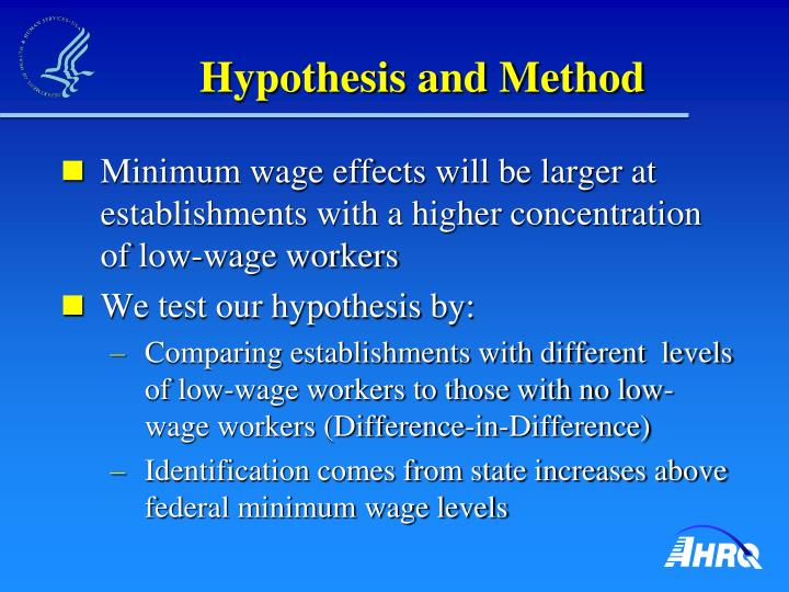 Hypothesis and Method