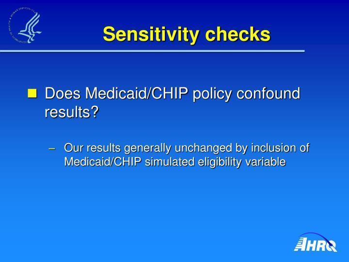 Sensitivity checks