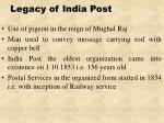 legacy of india post