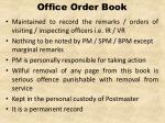 office order book