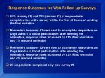 response outcomes for web follow up surveys