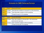 schedule for sms follow up surveys