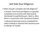 sell side due diligence2