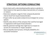 strategic options consulting