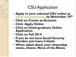 csu application