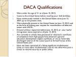 daca qualifications