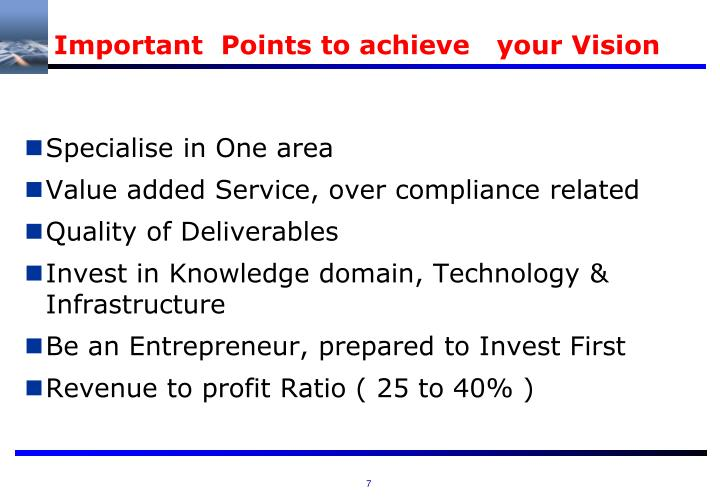 Important  Points to achieve   your Vision